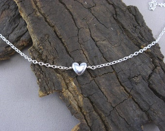 Bracelet Necklace Heart Chain silver plated