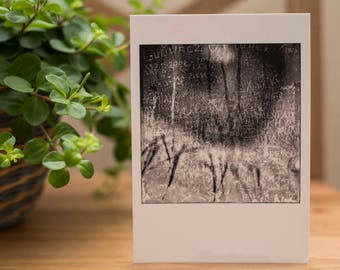 DREAMSCAPES series 4 x 6 in POSTCARD | sturdy recycled lustre paper | Infra red Black and white Photography |