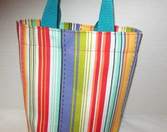 SALE --- Toddler's Striped Purse/Gift Bag/Tote