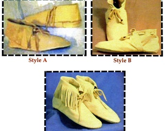 Azore Slipper Moccasin Sewing Pattern by SparrowHawk - Historic Portuguese 15th Century Style