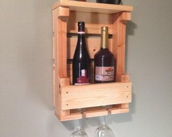 Pallet Wine Rack, Wall Mounted Wine Rack, Wooden Wine Rack
