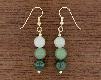 Green Ombré Earrings