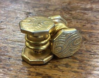 Vintage 1920s Kum-A-Part Art Deco Kuff Buttons Button Cuff Links by Baer & Wilde