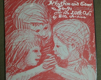 1964 Ella Jenkins Songs and Games For Children Record- Rhymes and Games to Play with your Kids- with the Lake Meadows Nursery School