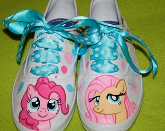 Girl's Custom Painted MY LITTLE PONY Inspired Tennis Shoes Any Size