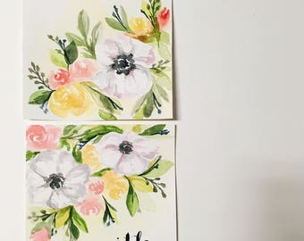 Floral Watercolor Painting Set