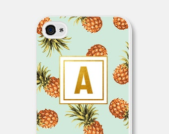 Samsung Galaxy S5 Case - Pineapple iPhone 6 Case - Monogram iPhone 5c Case Mint iPhone Case Pineapple iPhone 5 Case Monogram iPhone 5s Case