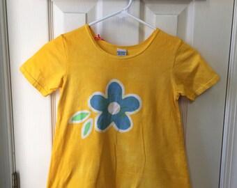 Yellow Girls Dress, Flower Girls Dress, Batik Girls Dress, Girls Flower Dress, Yellow Flower Dress, Blue Flower Dress, Yellow Dress (6)