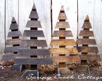 Primitive, Christmas Tree, Christmas, Holiday Decor, Handmade, Rustic, Winter, Porch Decor, Lake House Decor, Cabin Decor, Home & Living
