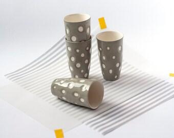 Dotted Mug, Art Mug, Beer Mug, Art Tumbler, Porcelain Cup, Ceramic Mug, Ceramic Tableware, Party Cups, Pottery Mug, Polka Dots Mug