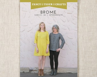 PRE-ORDER: Brome Dress & Top Printed Sewing Pattern Fancy Tiger