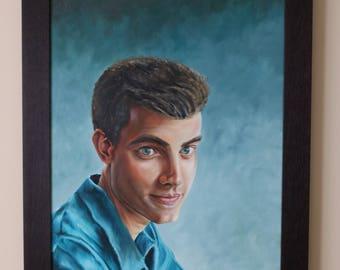 Custom, Portrait Painting with oil paints.