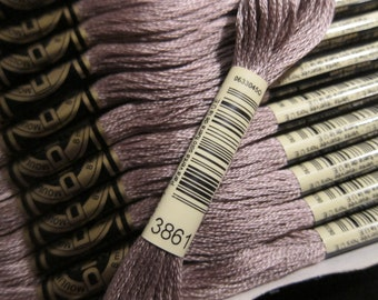 Light Cocoa #3861, DMC Cotton Embroidery Floss - 8m Skeins - Available in Single Skeins, Larger Pkgs & Full (12 skein) Boxes
