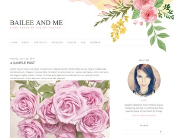 "Blogger Template, Blog Template - ""Bailee 