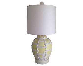 1950s Frederick Cooper Lamp w/ Shade and Finial