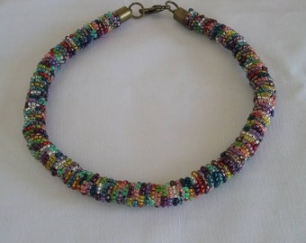 African Multicolor Necklace, Massai Necklace, Tribal Necklace.