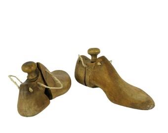 Vintage wooden shoe lasts, shoe forms, collectible, home decor