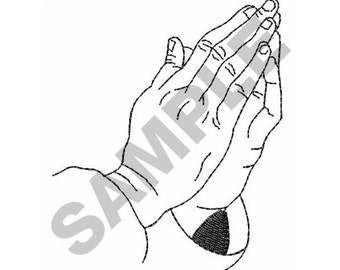 Praying Hands - Machine Embroidery Design