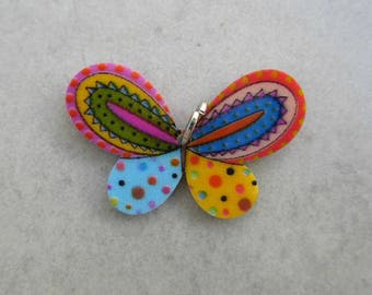 Printed on front & back acrylic Butterfly pendant