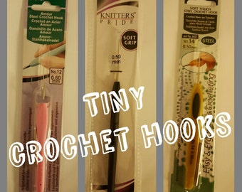 Tiny Steel Crochet Hook| 1.00mm | .90mm | .75mm | .60mm | .50mm |Tatting| installing braids|dreadlock maintenance|beading|CLOVER Soft touch