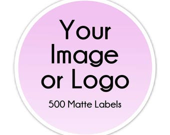 500 Custom Logo Labels, Custom Business Stickers, Logo Stickers, Your Logo,  Your
