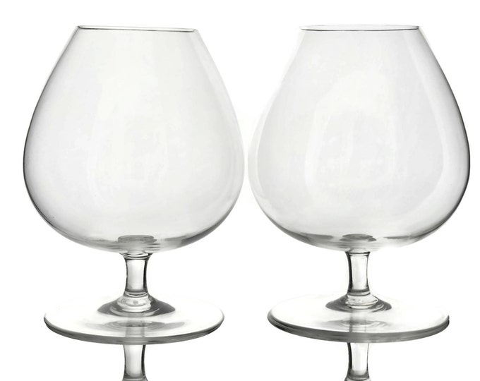 Pair of Baccarat Crystal Perfection Cognac Glasses.