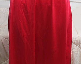Red Vintage Nylon  Half Slip Medium  #435
