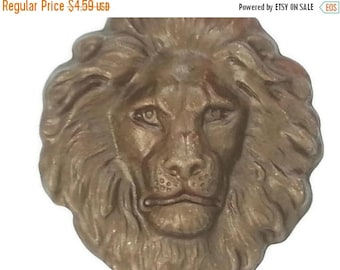 50off Bronze Shimmer Brown Brass Regal Lion Head Large Stamping 42mm x 48mm Perfect for Steampunk Art Made in the USA Brass