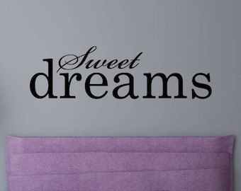 Wall Quote Sweet Dreams Bedroom Inspiration Motivation Wall Quotes Vinyl Decal