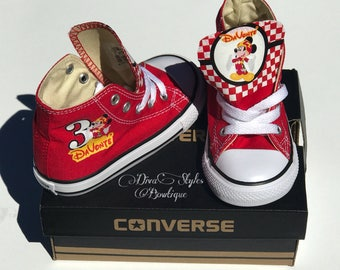 Mickey Converse, Mickey Mouse Baby Converse, Mickey Mouse Converse, Personalized Converse, Roadster Mickey