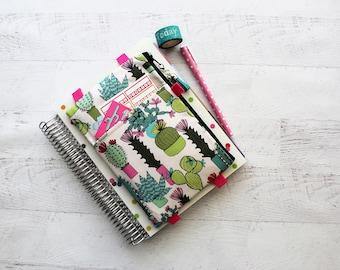 cactus bag - pencil pouch - pencil case - cactus planner band - cactus planner cover - planner pouch - cactus bag - planner girl