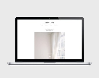 RESPONSIVE BLOGGER TEMPLATE - Absolute - Very Simple, Minimalist, Affordable