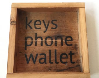 Keys Phone Wallet Tray