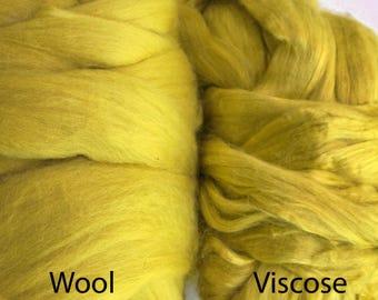 Viscose Wool Kit Fiber Extra Fine Nuno Wet Felting Supply Spinning Fiber Roving tops paper making mixed media supplies bamboo fibre