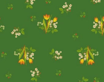 Windham - Kinder by Heather Ross - Floral - Green