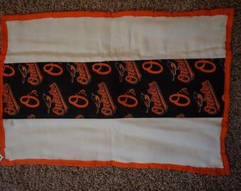 Baltimore Orioles burp cloth