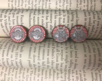 Ohio State Vintage Inspired Earring Studs