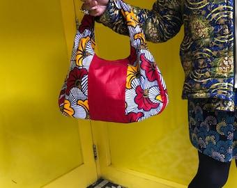 African Handbag African Print Handbag Kente Handbag Ankara Bag Wax Print Handbag Top Handle Summer Bag Festival Bag