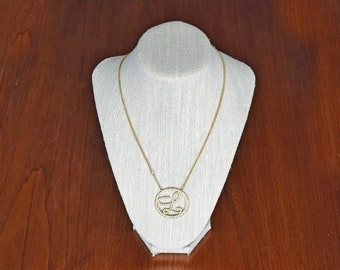 """Memorial Day Sale Laundry by Shelli Segal Rhinestone Pendant Monogram Initial """" L"""" Double Strand Goldtone Necklace"""
