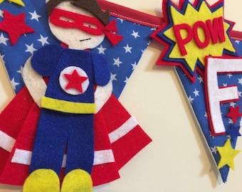 Superhero bunting - superhero banner - superhero decoration