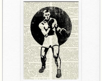 Boxer dictionary page print