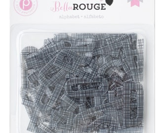 Pink Paislee Bella Rouge - Alphabet  -- MSRP 5.00