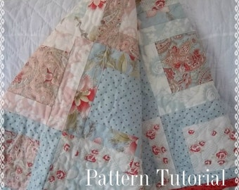 Martinique Quilt, Medium Framed Block Pattern Tutorial, pdf