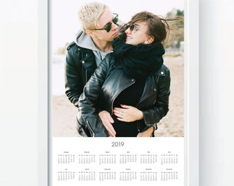 """Personalized 2019 Family / Couple Calendar Poster Printing Service 16x20"""""""