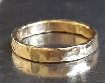 14K Gold Wedding Band Ring, Classic Band, Promise Ring, Men Ring, Handmade