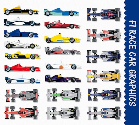 Race Car Clip Art Graphics F1 Formula One Formula 1 Clipart