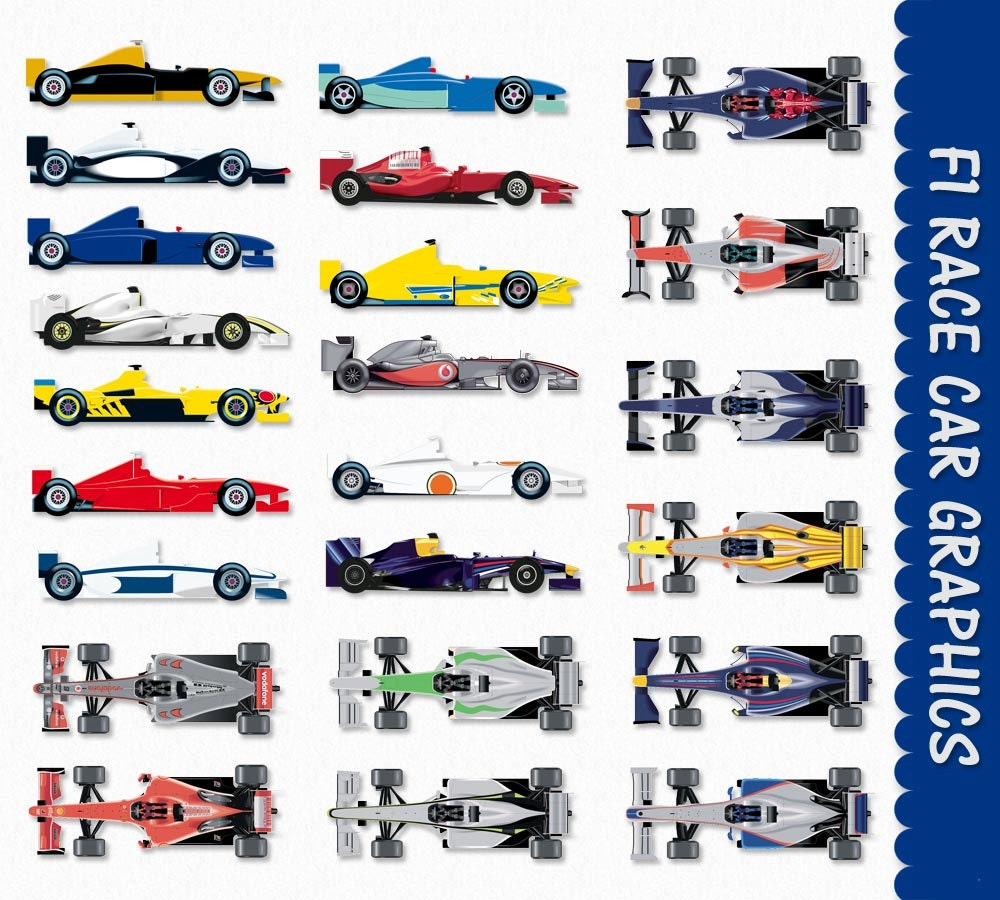 race car clip art graphics f1 formula one formula 1 clipart rh etsy com Race Car Vector Clip Art Race Car Driver Clip Art