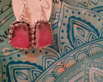 Rhodonite Necklace and Earrings