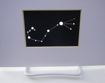 Scorpio, the Scorpion - Unframed Matted Aceo Asterism - Shadow Constellations Window Sun Catcher - Celestial Collection DDOTS