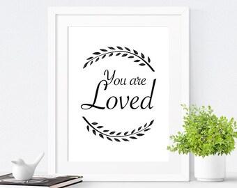 Printable Quote, Inspirational Quote Art, Printable Wall Art, Nursery Art Print, Kids Wall Art - Choose your color